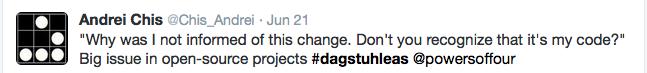 tweet about change