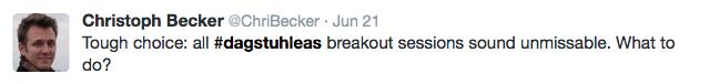 Christoph's tweet re breakout groups