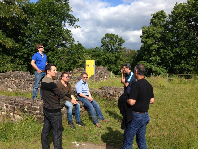 Workshop participants on the site of the old schloss
