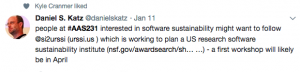 People interested in software sustainability might want to follow @si2urssi (urssi.us) which is working to plan a US research software systainability institute - a first workshop will likely be in April